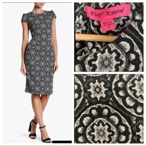 Betsey Johnson Medallion Print Sheath Dress 14